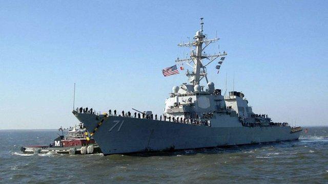Моряки ВМФ США оприлюднили відео «зустрічі» американського есмінця і бомбардувальника РФ