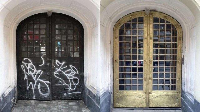 На вул. Пекарській у Львові відреставрували унікальну браму