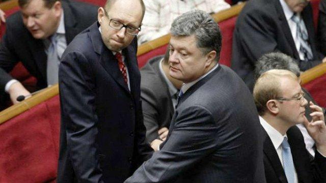 Яценюк запропонував президенту Порошенкові об'єднатися на місцевих виборах