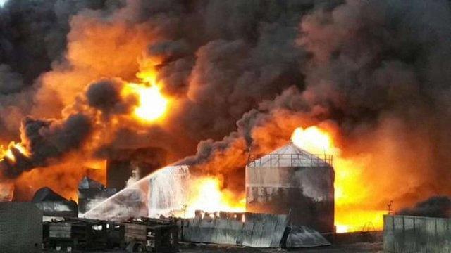 ЗМІ повідомили про новий вибух на нафтобазі у Василькові