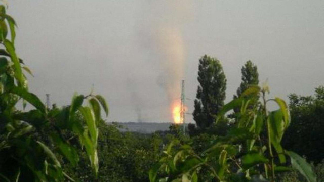 Поблизу Авдіївки спалахнув газопровід в результаті мінометного обстрілу, – МВС