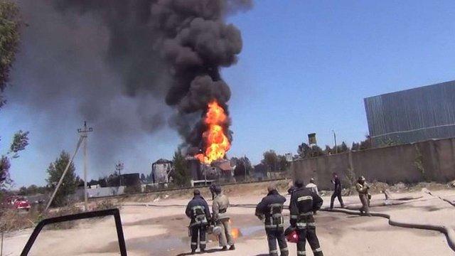 На нафтобазі під Васильковом знову спалахнула пожежа