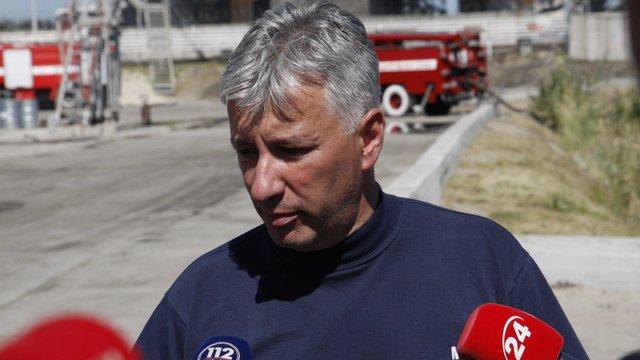 ДСНС готує пожежний танк для розчищення території на місці загоряння на нафтобазі під Києвом
