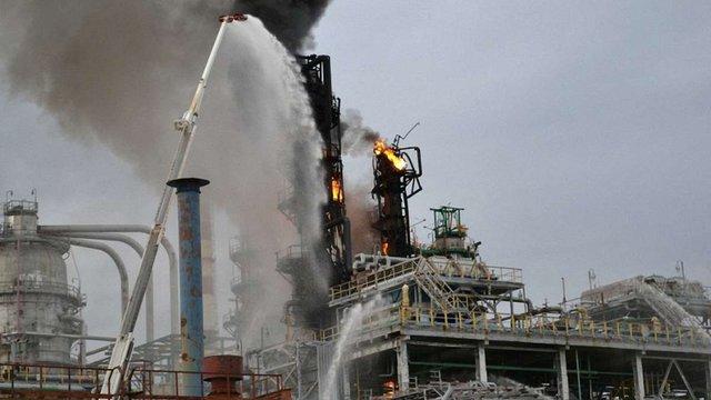 У Росії спалахнула пожежа на заводі «Роснефти»