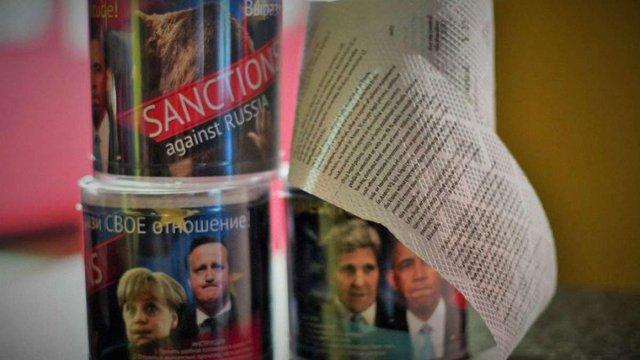 В Росії виробляють туалетний папір із санкціями Заходу