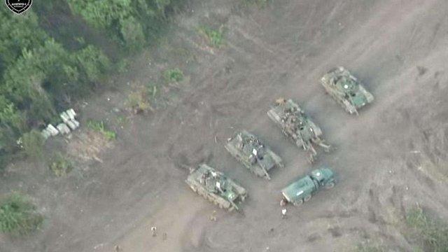 Полк «Дніпро-1» виявив базу бойовиків за 2 км від лінії розмежування (відео)