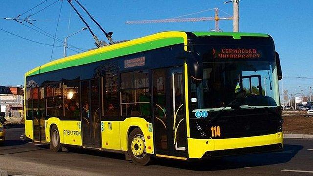 Львів придбав у «Електрону» три нових тролейбуси