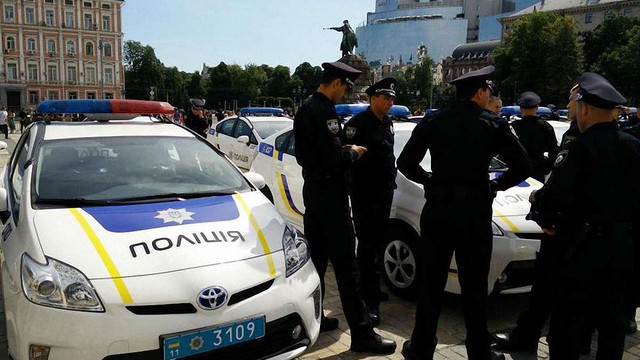 Патрульні у Києві затримали п'яного генерала (відео)