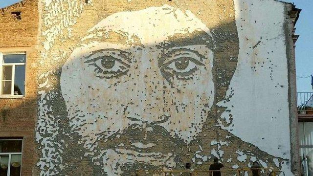 Сергію Нігояну присвятили фреску у сквері Небесної Сотні у Києві