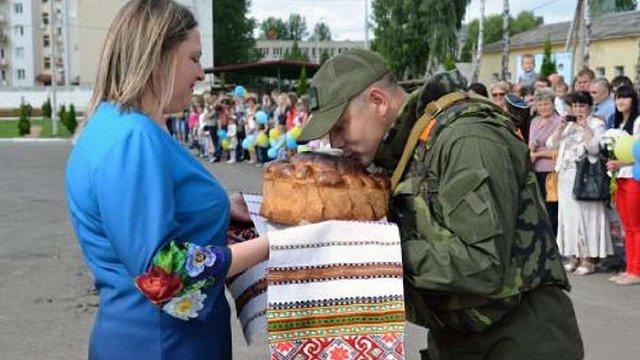 Нацгвардійці повернулися до Львова із зони АТО