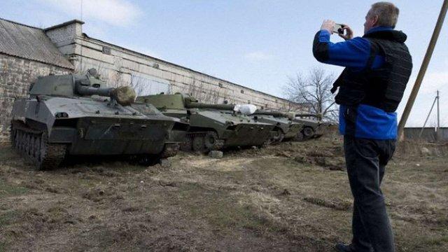 ОБСЄ не змогла підтвердити відведення бойовиками озброєння від лінії зіткнення на Донбасі