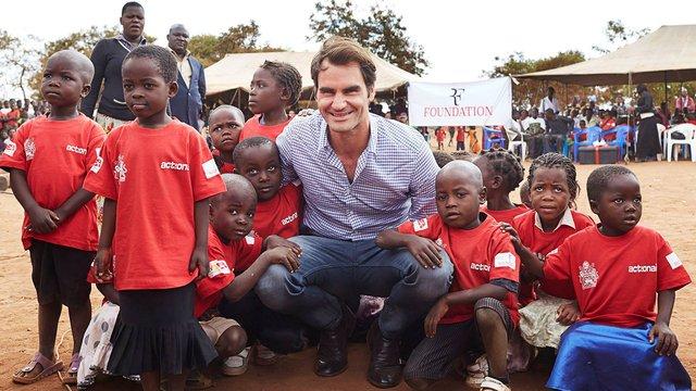 Швейцарський тенісист пожертвував $13,5 млн африканським дітям