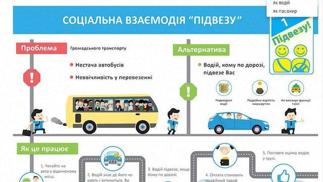 Львівська ініціатива «Підвезу!» запустила сайт