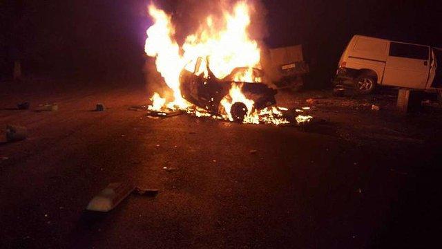 На Одещині таксі вибухнуло після зіткнення з вантажівкою: є загиблі