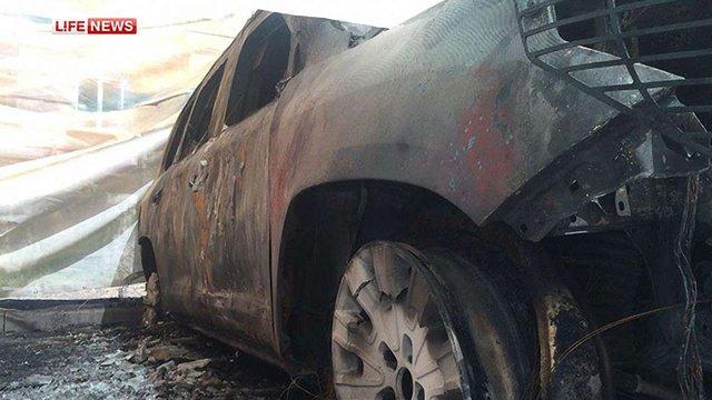 У Донецьку спалили чотири автомобілі місії ОБСЄ