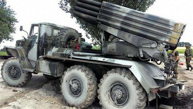 Терористи перевезли в Донецьк 11 «Градів»