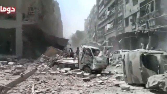Сирійська авіація завдала удари по передмістю Дамаска, загинули 80 людей