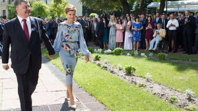 Для Дня Незалежності Марина Порошенко обрала сукню з кропом