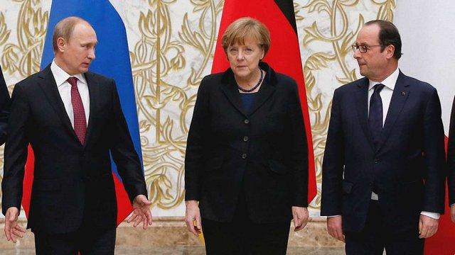 Олланд, Меркель і Путін домовилися про припинення вогню на Донбасі з 1 вересня