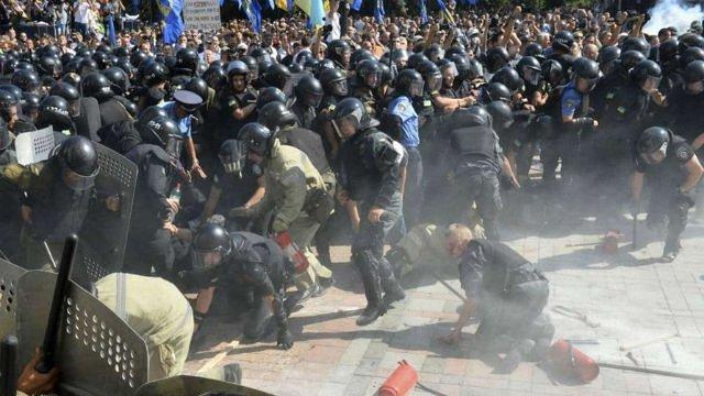МВС хоче розформувати батальйон «Січ» через сутички біля Верховної Ради