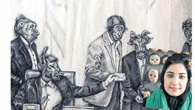 Іранська художниця постане перед судом через рукостискання