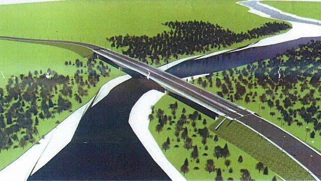 Голова Закарпатської ОДА показав проект 240-метрового моста з Румунією