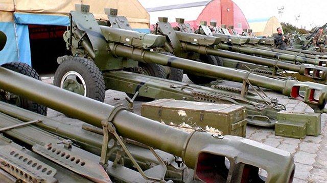 Спостерігачі ОБСЄ зафіксували зникнення трьох гаубиць і гармати із сховища бойовиків
