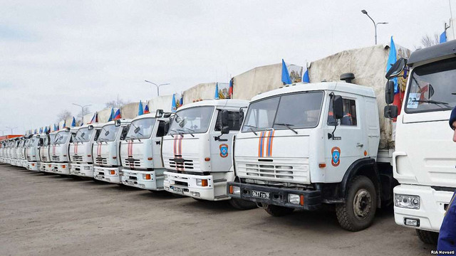 На Донбас приїхав черговий «гуманітарний конвой» з Росії