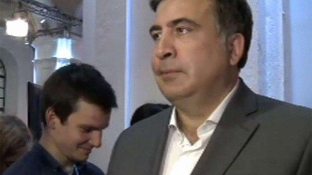 Саакашвілі перервав інтерв'ю під час виконання гімну України (відео)