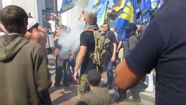 МВС оприлюднило відео підготовки і виконання теракту під Верховною Радою 31 серпня
