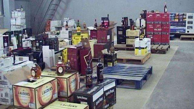 В Одесі міліція ліквідувала склад з контрабандним алкоголем