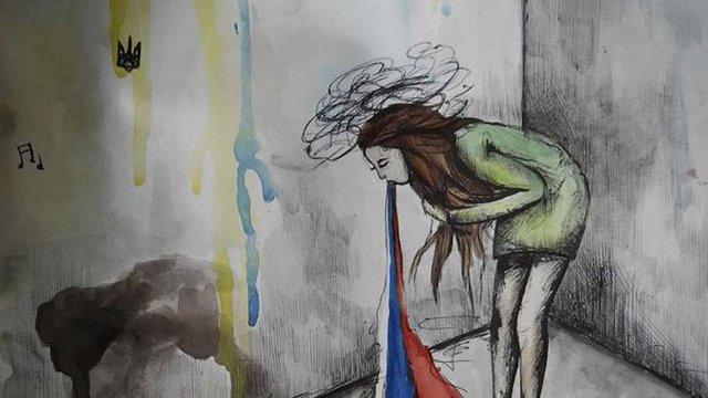 Користувачів соцмереж вразила антиросійська картина 15-річної дівчини з Луганщини