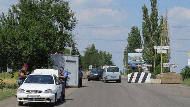 Правоохоронці вилучили вибухівку на блокпосту в Красноармійську