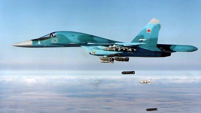Сирійські урядові війська використовують російські бомбардувальники