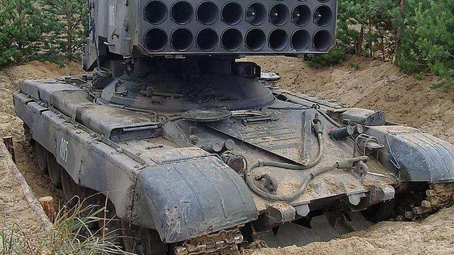 Спостерігачі ОБСЄ помітили в «ЛНР» російський вогнемет «Буратіно»