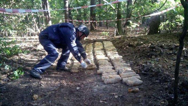 У Києві знайшли понад тисячу боєприпасів часів Другої світової