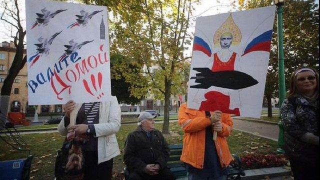 У Мінську мітингують проти створення російської військової бази в Білорусі