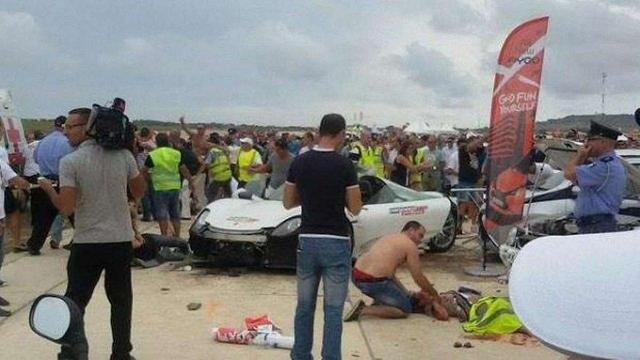 Водій Porsche збив 28 глядачів на автомобільному шоу на Мальті
