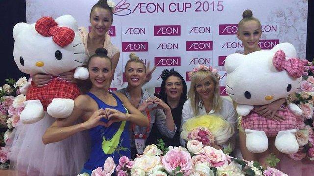 Українські гімнастки стали срібними призерками турніру в Японії