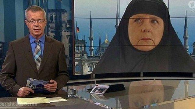В Німеччині розгорівся скандал через «фотожабу» з Меркель у хіджабі