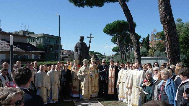 У Римі встановили пам'ятник Володимиру Великому