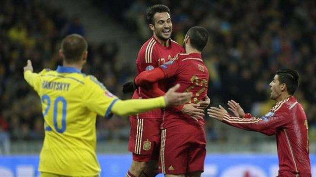 Україна програла Іспанії у відбірковому матчі на Євро-2016