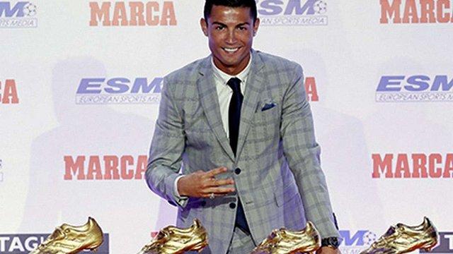 Кріштіану Роналду отримав рекордну «Золоту бутсу»