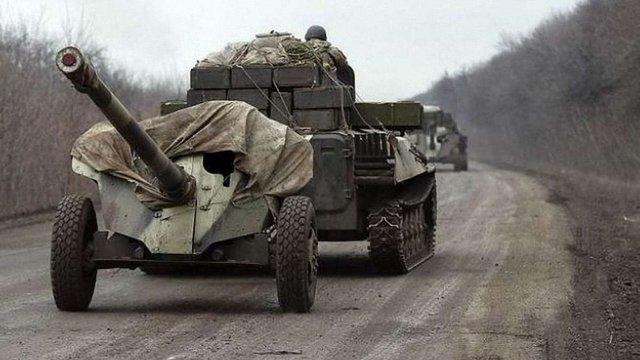 Сили АТО завершили відведення озброєнь в Луганській області
