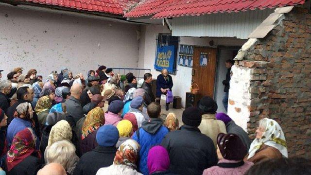 У Червонограді «Сила людей» дарувала виборцям побутову техніку