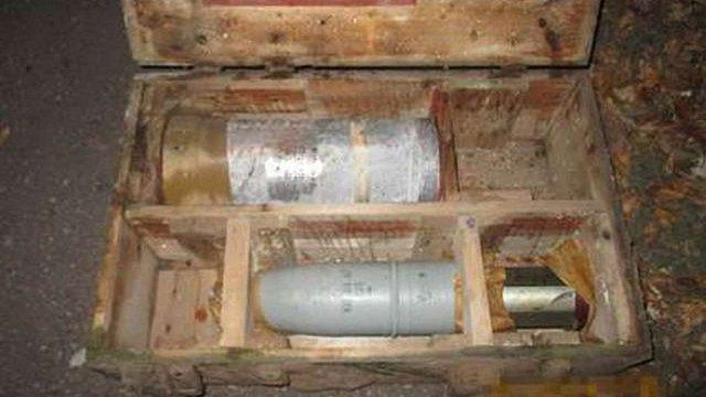 У Донецькій області СБУ виявила схованки з фугасними снарядами і гранатометами