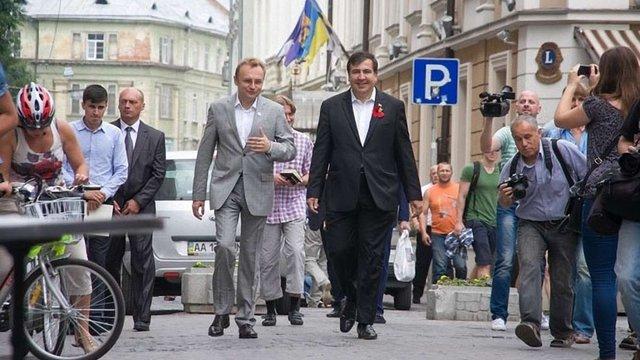 Саакашвілі закликав львів'ян підтримати Андрія Садового на виборах мера