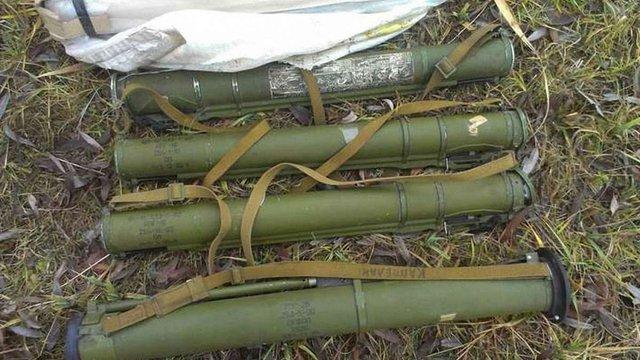 СБУ знайшла схованку з гранатометами на Луганщині