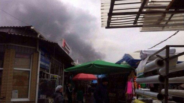 У Харкові через пожежу з ринку «Барабашово» евакуюють людей