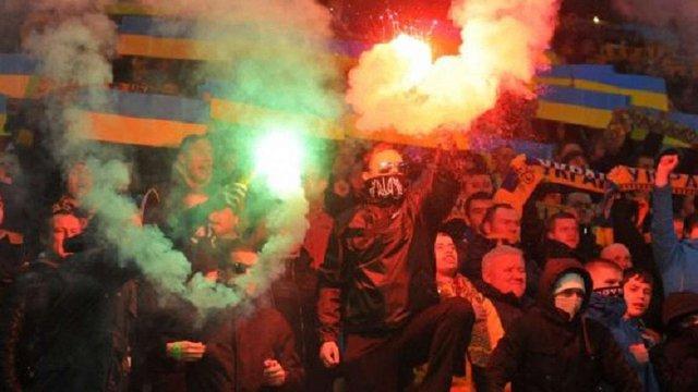 Правоохоронці встановили тих, хто палив фаєри під час матчу збірної України у Львові